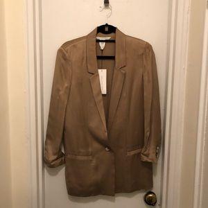 Diane von Furstenberg neutral Shade Blazer size 6